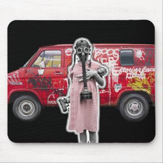 Zombie Apocalypse, Doomsday Girl with Handgun Mouse Pad