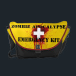 "Zombie Apocalypse Emergency Kit Messenger Bag<br><div class=""desc"">Zombie Apocalypse Emergency Kit Messenger Bag</div>"