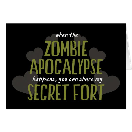 Zombie Apocalypse Fort Card