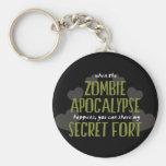 Zombie Apocalypse Fort Key Chain