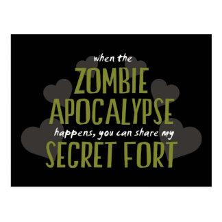 Zombie Apocalypse Fort Post Cards