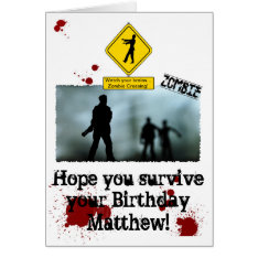 Zombie Apocalypse - Funny Zombies Birthday Card at Zazzle