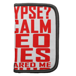 Zombie Apocalypse Gamers Keep Calm Funny T-shirt.p Folio Planner