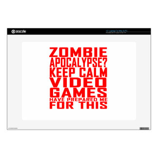 Zombie Apocalypse Gamers Keep Calm Funny T-shirt.p Decal For Laptop
