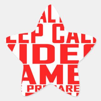 Zombie Apocalypse Gamers Keep Calm Funny T-shirt.p Star Sticker