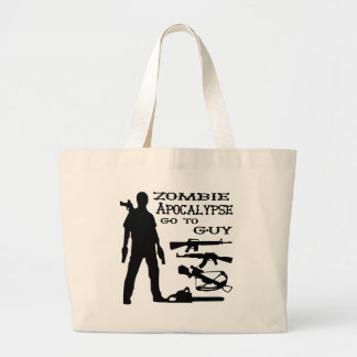 Zombie Apocalypse Go To Guy Weapon, Crossbow, Guns Large Tote Bag