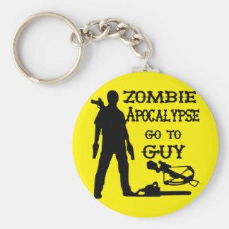 Zombie Apocalypse Go To Guy (Weapons) Basic Round Button Keychain