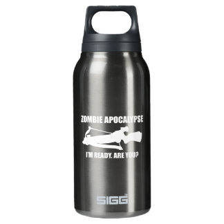 Zombie Apocalypse I'm Ready Are You Thermos Water Bottle