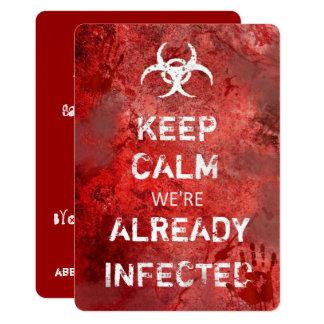 Zombie Apocalypse Keep Calm Halloween Invitation