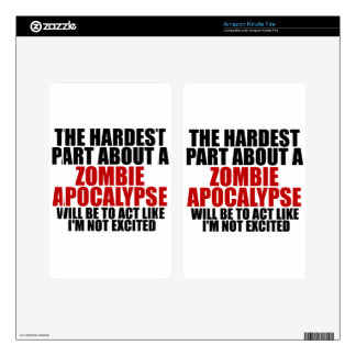 Zombie Apocalypse Kindle Fire Decal