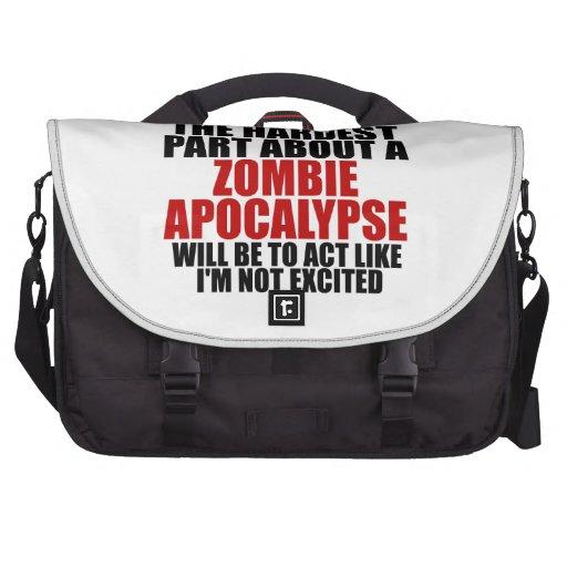 Zombie Apocalypse Laptop Messenger Bag