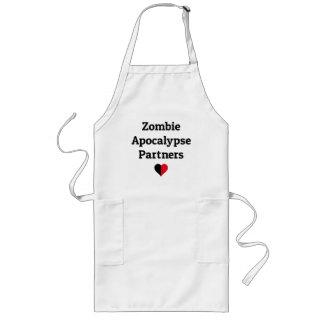 zombie apocalypse partners heart halves long apron