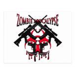 Zombie apocalypse post card