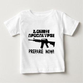 Zombie Apocalypse Prepare Now Baby T-Shirt