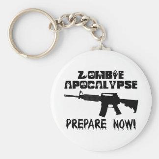 Zombie Apocalypse Prepare Now Basic Round Button Keychain