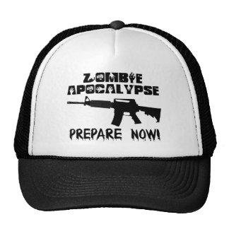 Zombie Apocalypse Prepare Now Trucker Hat