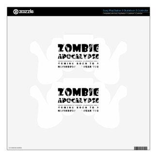 Zombie apocalypse PS3 controller decal