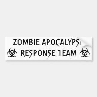ZOMBIE APOCALYPSE RESPONSE TEAM BUMPER STICKERS