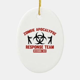 Zombie Apocalypse Response Team Ceramic Ornament