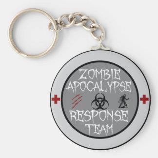 Zombie apocalypse response team keychain