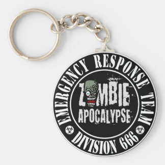 Zombie Apocalypse Response Team Logo Keychain