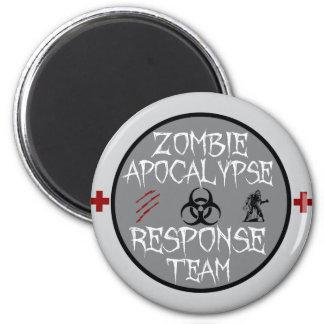 Zombie apocalypse response team magnet