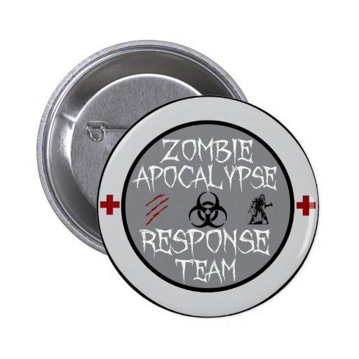Zombie apocalypse response team pins