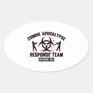 Zombie Apocalypse Response Team Oval Stickers