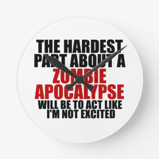 Zombie Apocalypse Round Clock