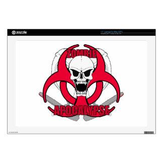 """Zombie Apocalypse rw 17"""" Laptop Decal"""