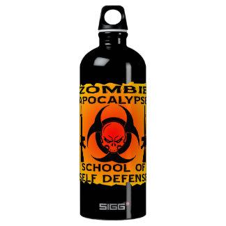 Zombie Apocalypse School Of Self Defense Aluminum Water Bottle