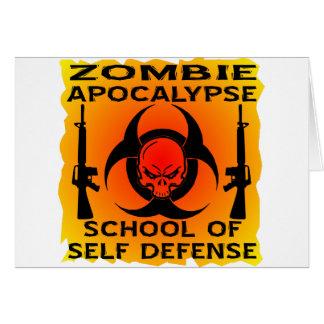 Zombie Apocalypse School Of Self Defense Card