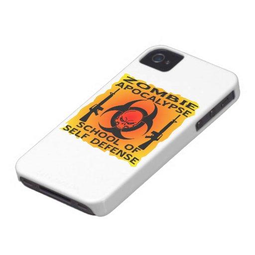 Zombie Apocalypse School Of Self Defense Case-Mate iPhone 4 Case