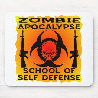 Zombie Apocalypse School Of Self Defense Mouse Pad