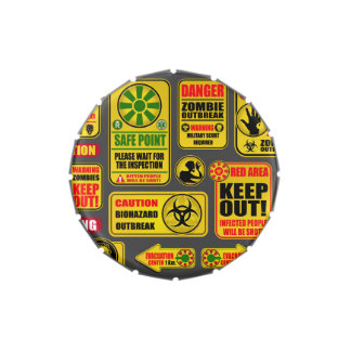 Zombie Apocalypse Signs & Billboards Jelly Belly Tin