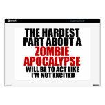 "Zombie Apocalypse Skin For 15"" Laptop"