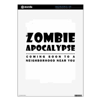 Zombie apocalypse skin for iPad 2