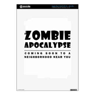 Zombie apocalypse skin for iPad 3