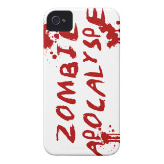 Zombie Apocalypse Skull iPhone Cover - Blood Splat