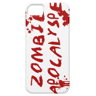 Zombie Apocalypse Skull iPhone Cover - Blood Splat iPhone 5 Cover