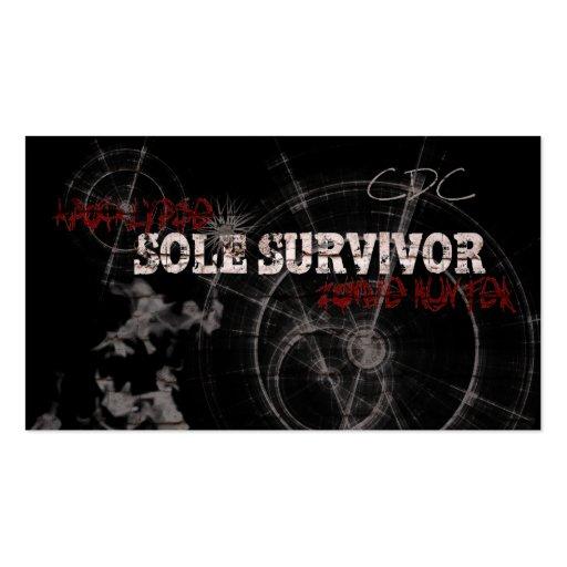 Zombie Apocalypse Sole Survivor Business Cards
