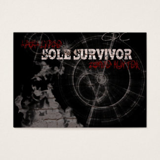 Zombie Apocalypse Sole Survivor Chubby Business Ca Business Card