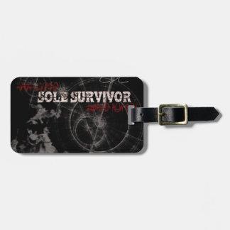 Zombie Apocalypse Sole Survivor Luggage Tag
