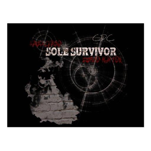 Zombie Apocalypse Sole Survivor Postcard
