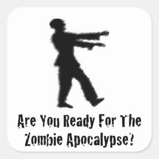 Zombie Apocalypse Square Stickers