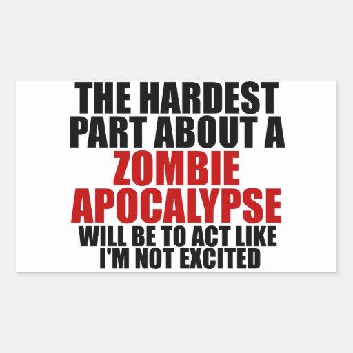 Zombie Apocalypse Rectangle Sticker