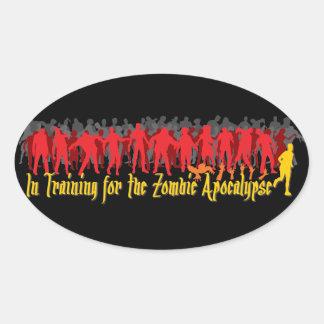 Zombie Apocalypse Oval Stickers
