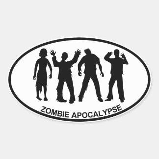 Zombie Apocalypse Oval Sticker