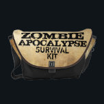 "Zombie Apocalypse Survival Kit Messenger Bag<br><div class=""desc"">Zombie Apocalypse Response Team  Survival Kit Messenger Bag</div>"