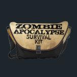 "Zombie Apocalypse Survival Kit Messenger Bag<br><div class=""desc"">Zombie Apocalypse Response Team  Survival Kit Messenger Bag</div>"